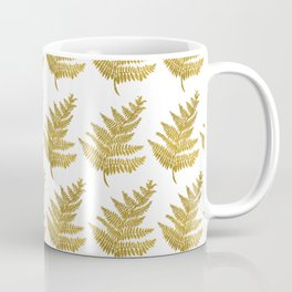 Gold Fern Leaf Coffee Mug