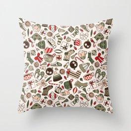 A Cozy Christmas Morning Throw Pillow