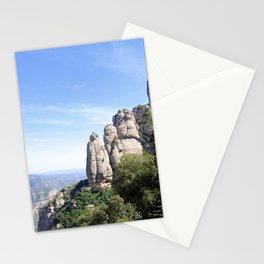 Landscape of Montserrat mountain in Catalonia, Spain Stationery Cards