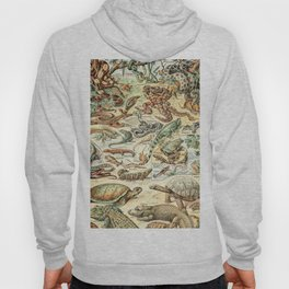 Reptiles II by Adolphe Millot // XL 19th Century Snakes Lizards Alligators Science Textbook Artwork Hoody
