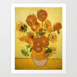 Sunflowers by Van Gogh Art Print