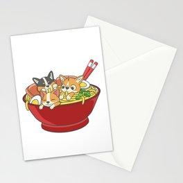 Japanese Corgi Ramen Kawaii Ramen Noodle Life Stationery Cards