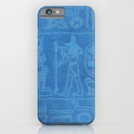 Egyptian Hieroglyphic Art iPhone Case