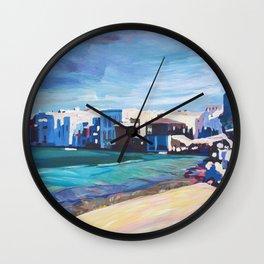Mykonos Greece Little Venice Seascape Wall Clock