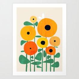 Sunflower and Bee Kunstdrucke
