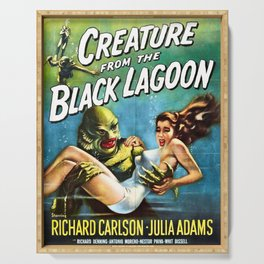 Creature from the Black Lagoon, vintage horror movie poster Serving Tray
