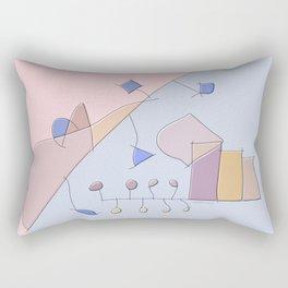 Spontaneous watercolor experimental abstract art nature mathematics theory order C&F_008 Rectangular Pillow