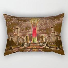 Kazakhstan Bayterek Tower Artistic Illustration Sparkle Style Rectangular Pillow