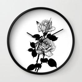 Ink rose Wall Clock