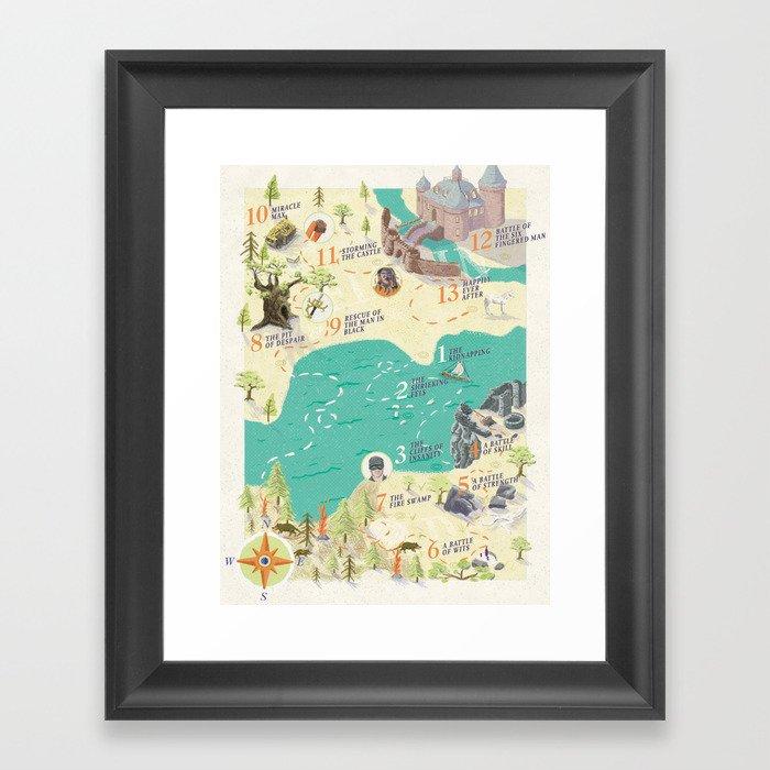 Princess Bride Discovery Map Gerahmter Kunstdruck