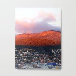 Dawn on Mt Wellington Metal Print