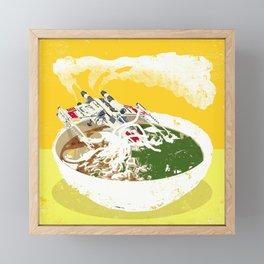 """X-Wing Ramen"" by Showdeer Framed Mini Art Print"