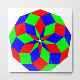 Nonagon RGB Puzzle Metal Print