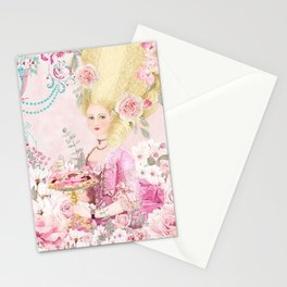 Marie Antoinette Flower Tea Stationery Cards