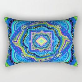 losange-geometry-baby art-bright colors-joy and energy-imagination-nursery art-hand painted Rectangular Pillow
