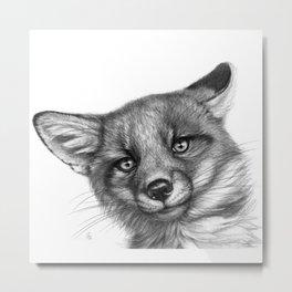 Fox Cub G139 Metal Print