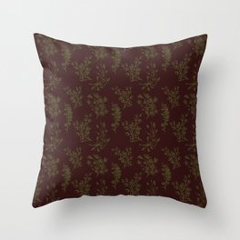 Wild Botanicals, Vintage Flowers, Vintage, Abstract, Art-Noveau Throw Pillow