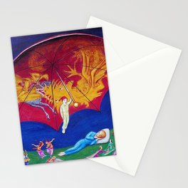 Dreams of Youth surrealism landscape painting by Nils Dardel Stationery Cards