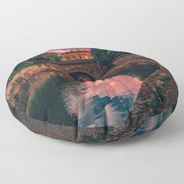 Bath Somerset sunset artb Floor Pillow