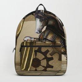 Wonderful dark steampunk unicorn with wings Backpack