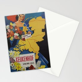 Vintage Placard Keukenhof Stationery Cards