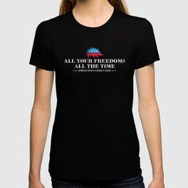 All Your Freedoms Libertarian President Jorgensen Cohen 2020 graphic T-shirt