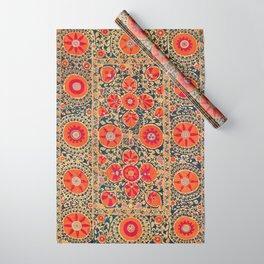 Kermina Suzani Uzbekistan Print Wrapping Paper