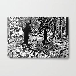 Landscape Art Gifts B & W Forest Art Print Metal Print