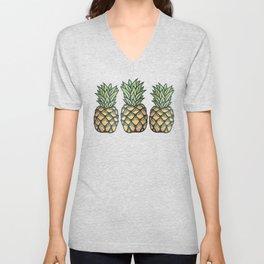 Pineapple Paradise by Nicole B Roberts Unisex V-Neck