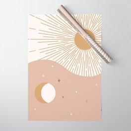 Yin Yang Blush - Sun & Moon Wrapping Paper