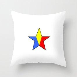 Flag of romania 6 -romania,romanian,balkan,bucharest,danube,romani,romana,bucuresti Throw Pillow