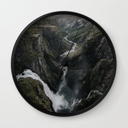 Voringsfossen Waterfall - Landscape and Nature Photography Wall Clock