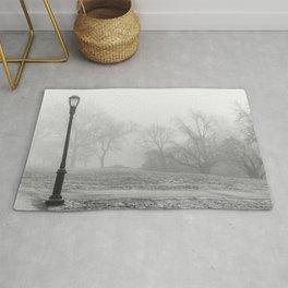 Lamp Post in the fog Rug
