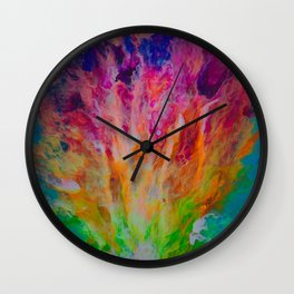 Rainbow Explosion Wall Clock