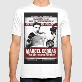 VINTAGE  BOXING  POSTER / MARCEL CERDAN / T-shirt