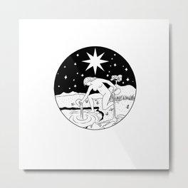 THE STAR - Waite tarot inspired Metal Print