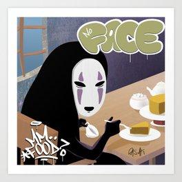 No Face Mm.. Food (MF Doom + Spirited Away) Kunstdrucke