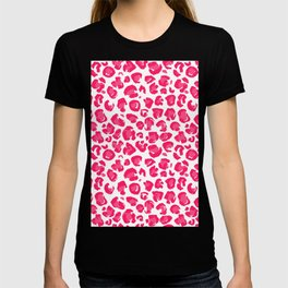 Pink And Red Leopard  T-shirt