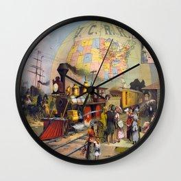 Vintage poster - Intercontinental Railroad Wall Clock