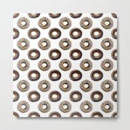 Donut Polka Dot Pattern Metal Print
