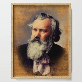 Johannes Brahms, Music Legend Serving Tray