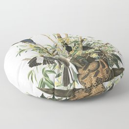 Mockingbird, Birds of America, Audubon Plate 21 Floor Pillow