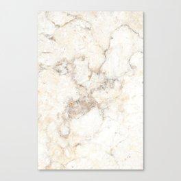 Marble Natural Stone Grey Veining Quartz Canvas Print