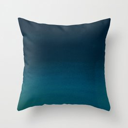 Hand painted navy blue green watercolor ombre brushstrokes Throw Pillow