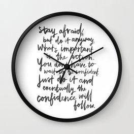 Do It Anyway Wall Clock