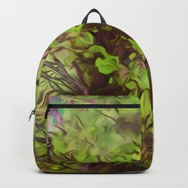 Old Tree Thick Branches Green & Purple Magic Backpack