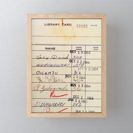 Library Card 23322 Framed Mini Art Print
