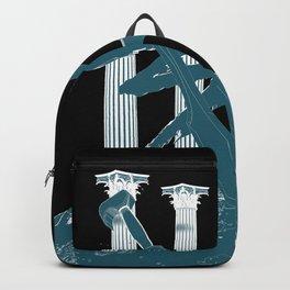 300 Blue and Black Backpack