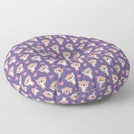 Kawaii otters Floor Pillow