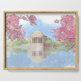 Cherry Blossom - Jefferson Memorial Serving Tray